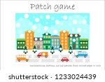 education patch game christmas... | Shutterstock .eps vector #1233024439