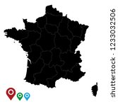 map of france  high detailed... | Shutterstock .eps vector #1233032506