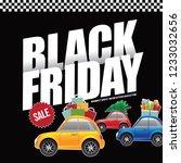 black friday promotional design.... | Shutterstock .eps vector #1233032656
