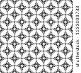 decorative ornamental black and ... | Shutterstock .eps vector #1233033733