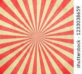 Red And White Sunburst Vintage...