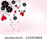 abstract floral background for... | Shutterstock .eps vector #123303868