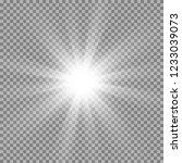 white glowing light. beautiful...   Shutterstock .eps vector #1233039073