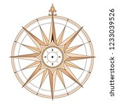 sea compass at vintage style.... | Shutterstock .eps vector #1233039526