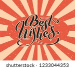 best wishes   hand lettering... | Shutterstock .eps vector #1233044353