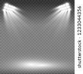 white glowing light.stadium... | Shutterstock .eps vector #1233044356