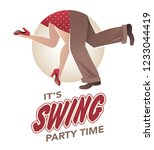 it's swing party time  legs of... | Shutterstock .eps vector #1233044419