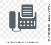 fax icon. fax design concept... | Shutterstock .eps vector #1233044980