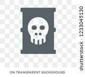toxic waste icon. toxic waste... | Shutterstock .eps vector #1233045130