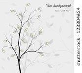 trees background  vector | Shutterstock .eps vector #123304624