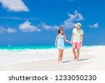 romantic couple in bright... | Shutterstock . vector #1233050230
