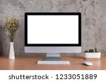 blank screen of all in one... | Shutterstock . vector #1233051889