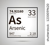arsenic chemical element with... | Shutterstock . vector #1233059620