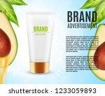 avocado massage oil ads.... | Shutterstock .eps vector #1233059893