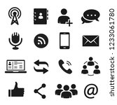 communication icons for... | Shutterstock .eps vector #1233061780