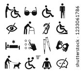 disabled people care and... | Shutterstock .eps vector #1233061786