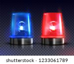 blue and red realistic flasher... | Shutterstock .eps vector #1233061789