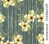 trendy floral pattern in the of ...   Shutterstock .eps vector #1233063199