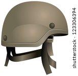 Постер, плакат: Modern combat helmets Military