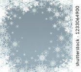 2d illustration. snowflake... | Shutterstock . vector #1233064900