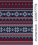 ugly sweater merry christmas... | Shutterstock . vector #1233077776