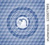 shower icon inside blue emblem...   Shutterstock .eps vector #1233077893