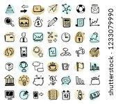 set of hand drawn business... | Shutterstock .eps vector #1233079990
