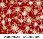 2d illustration. snowflake... | Shutterstock . vector #1233080506