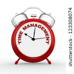 3d time to management. concept... | Shutterstock . vector #123308074