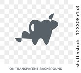 flossing icon. flossing design... | Shutterstock .eps vector #1233085453