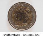 2 euro money  eur   currency of ... | Shutterstock . vector #1233088423