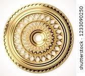 3d rendering beautiful golden... | Shutterstock . vector #1233090250