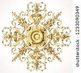 3d rendering beautiful golden...   Shutterstock . vector #1233090349