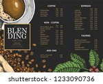 vintage coffee illustration for ... | Shutterstock .eps vector #1233090736