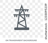 transmission tower icon.... | Shutterstock .eps vector #1233095239