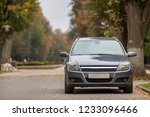 front view of gray shiny empty... | Shutterstock . vector #1233096466