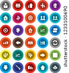 white solid icon set  graph...   Shutterstock .eps vector #1233100690