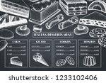 italian cuisine menu design.... | Shutterstock .eps vector #1233102406