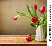 Beautiful Tulips Bouquet On...