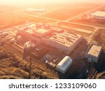 aerial drone view of warehouse... | Shutterstock . vector #1233109060