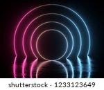 3d render  glowing lines ... | Shutterstock . vector #1233123649