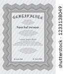grey certificate template. with ... | Shutterstock .eps vector #1233138049