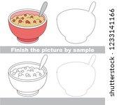 drawing worksheet for preschool ... | Shutterstock .eps vector #1233141166