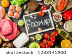 healthy diet food. various low... | Shutterstock . vector #1233145900