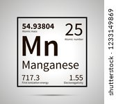 manganese chemical element with ... | Shutterstock . vector #1233149869