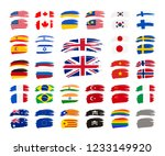 large set of grunge brush... | Shutterstock . vector #1233149920