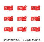sale tag set. 10  20  30  40 ... | Shutterstock .eps vector #1233150046