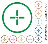 precise cursor flat color icons ... | Shutterstock .eps vector #1233152770
