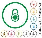 locked round combination lock...   Shutterstock .eps vector #1233152773