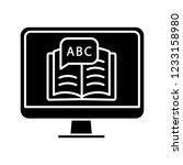 online language learning glyph... | Shutterstock .eps vector #1233158980